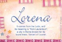 Name Lorena