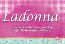 Name Ladonna