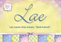 Name Lae