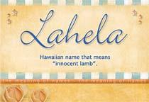 Name Lahela