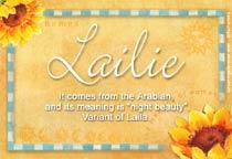 Name Lailie
