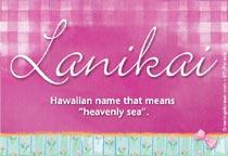 Name Lanikai
