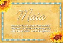 Name Maia