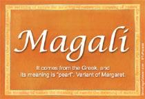 Name Magali