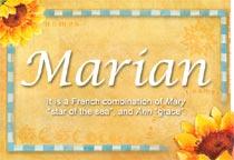 Name Marian