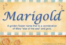 Name Marigold