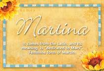 Name Martina