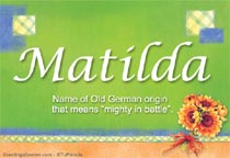 Name Matilda