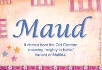 Name Maud