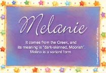 Name Melanie