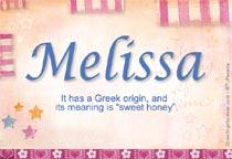 Name Melissa