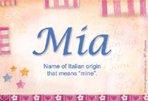 Name Mia