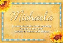 Name Michaela