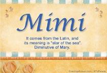 Name Mimi