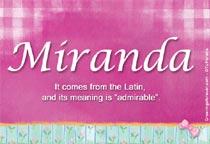 Name Miranda