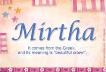 Name Mirtha