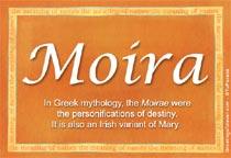 Name Moira
