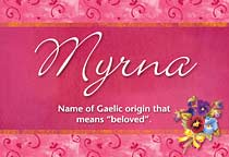 Name Myrna