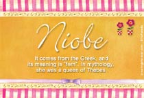 Name Niobe