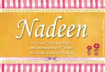 Name Nadeen