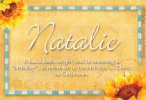 Name Natalie