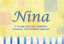 Name Nina
