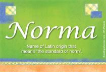 Name Norma