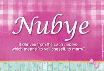 Name Nubye