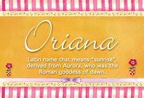 Name Oriana