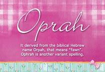 Name Oprah