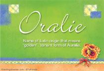 Name Oralie