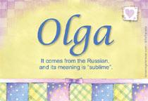 Name Olga