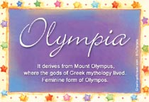 Name Olympia