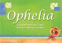 Name Ophelia