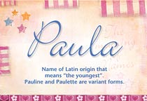 Name Paula