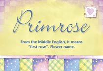 Name Primrose