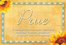 Name Prue