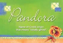 Name Pandora