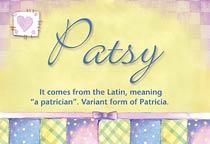 Name Patsy