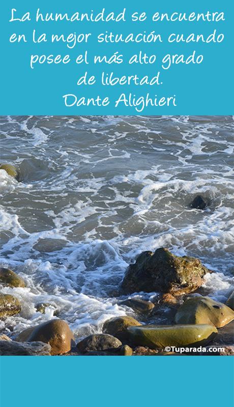 Tarjeta - La humanidad por Dante Alighieri - Mobile