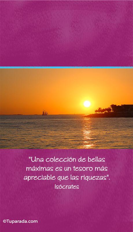Tarjeta - Bellas máximas - Isócrates - Mobile