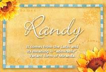 Name Randy