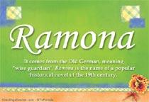 Name Ramona