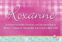 Name Roxanne