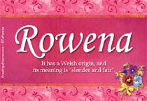 Name Rowena