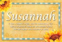 Name Susannah