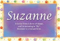 Name Suzanne