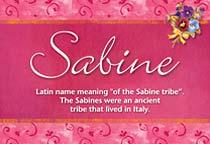 Name Sabine