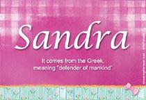 Name Sandra