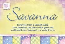 Name Savanna